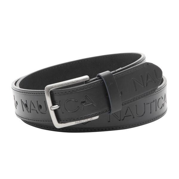Nautica Men's Leather Belt - Blue Black