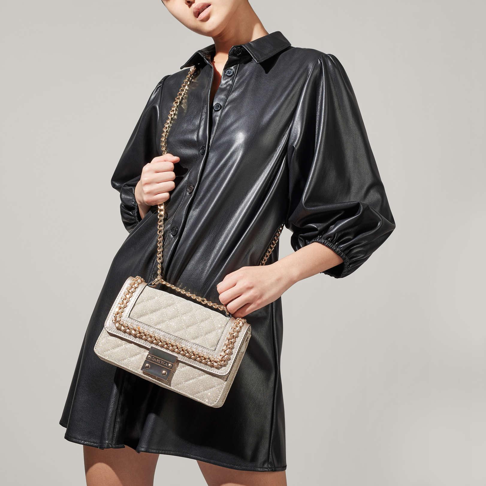 Carvela Bailey Quilted Bag - Gold