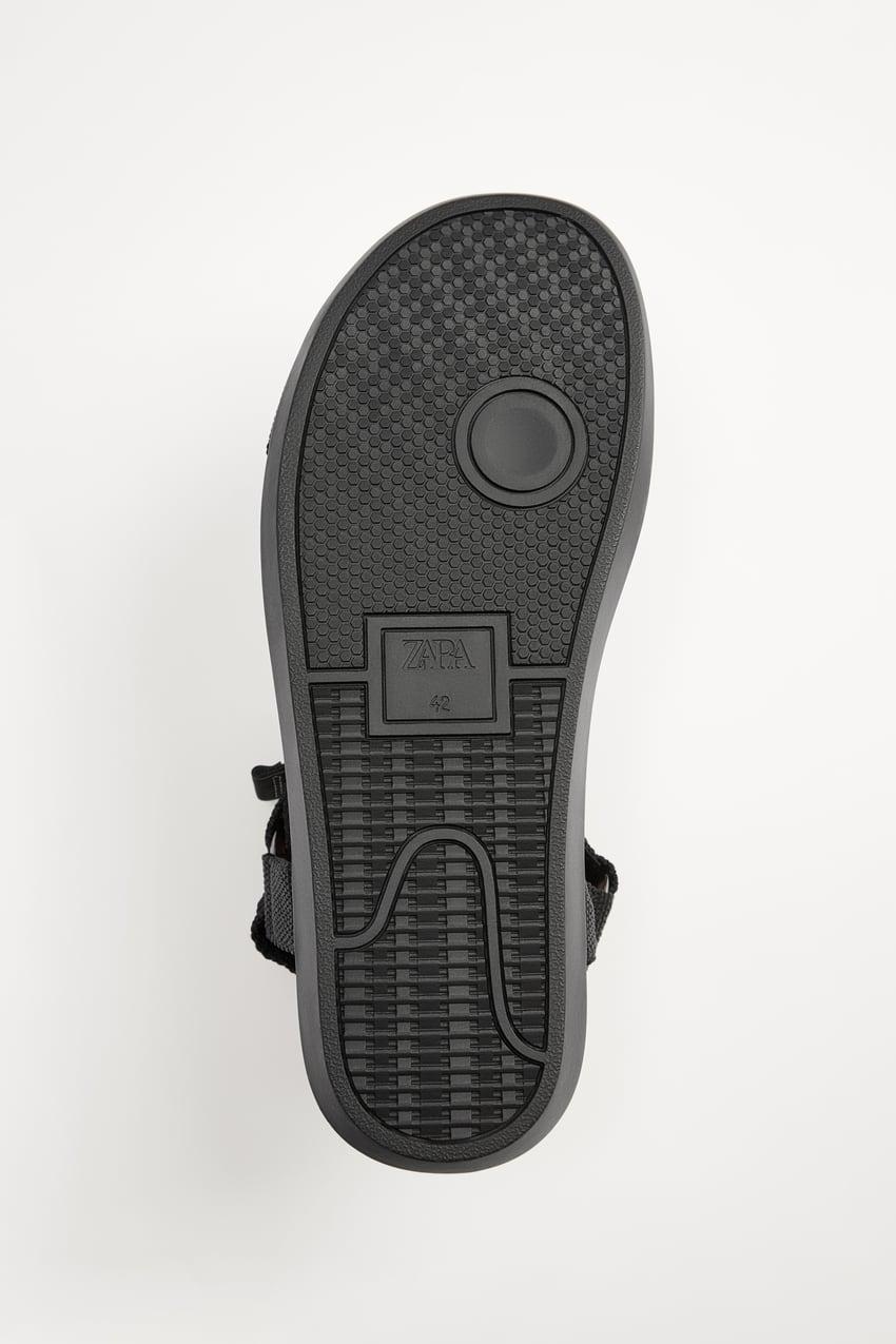 Zara Sporty Strappy Sandals - Black