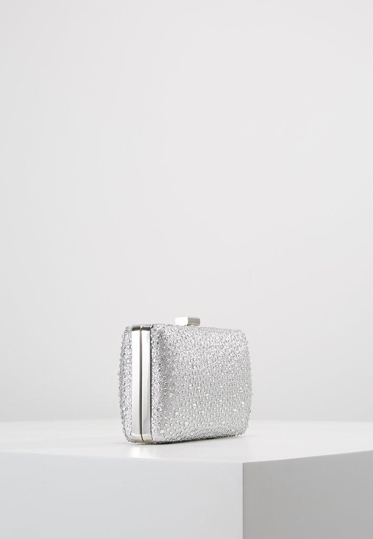 L. Credi Diamante Encrusted Clutch - Silver