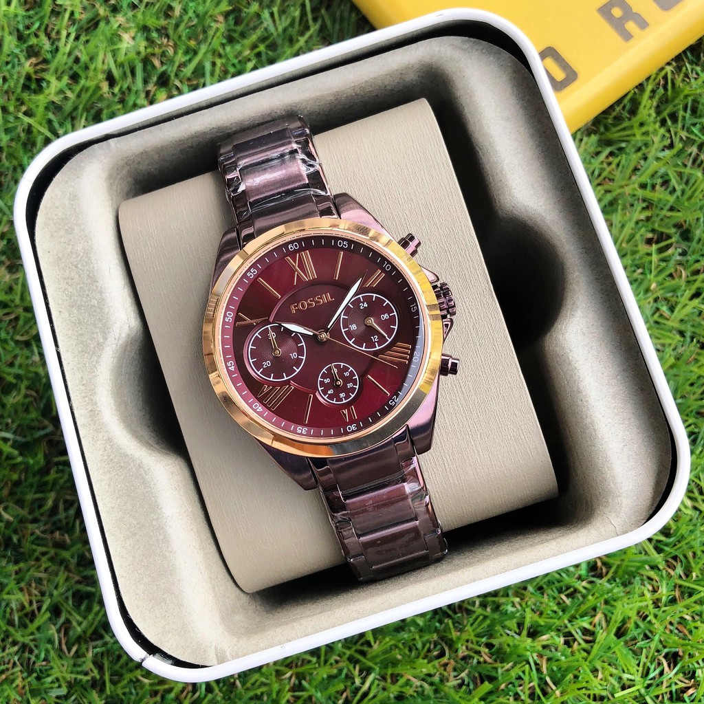 Fossil Modern Courier Chronograph Wine Stainless Steel Watch